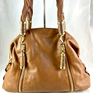 MICHEAL KORS Tonne Dome Leather Hobo Bag